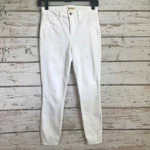L'Agence White Margot Skinny Jeans